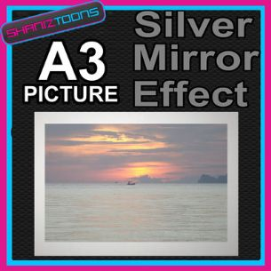 THAILAND SUNSET ALUMINIUM PRINTED PICTURE SPECIAL EFFECT PRINT NOT CANVAS